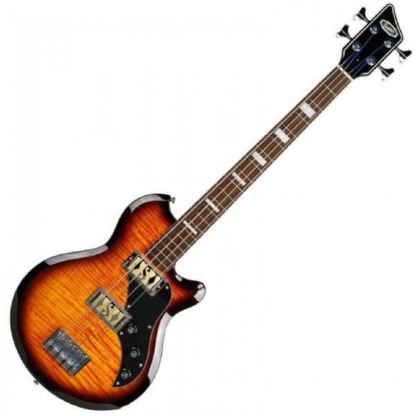 SUPRO HUNTINGTON 2 BASS GUITAR - TOBACCO SUNBURST FLAME - 2042TS